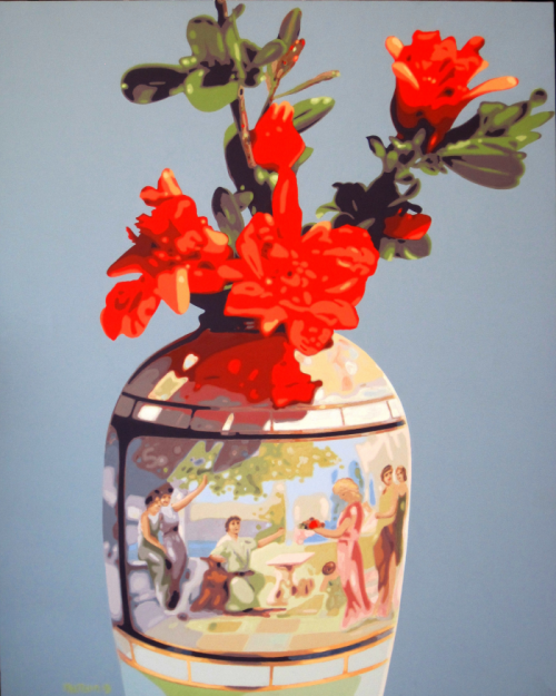Fiori di melograno nel vaso di famiglia - 2019 - cm 80x100