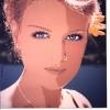 Gli occhi azzurri e il fiore giallo - 1999, cm. 70x70