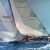 Il Flica in regata - 2002, cm. 100x70