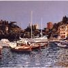 Portofino fino al castello - 1997, cm. 100x50