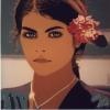 Tiana, lo sguardo e il fiore - 1999, cm. 70x70
