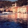 Portofino e il suo battello bianco - 2000, cm. 120x120