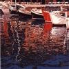 Barche a Portofino - 1999, cm. 50x70