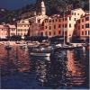 I colori a Portofino - 1991, cm. 100x100