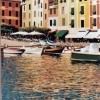 Portofino, la piazzetta - 2001, cm. 50x100
