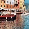 Portofino, la calata - 2001, cm. 50x100