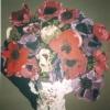 Il vaso di anemoni - 1999, cm. 100x100
