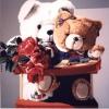 Gli orsetti e l'Express - 1998 - cm 100x100
