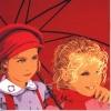 Tutti due sotto l'ombrello rosso - 1999 - cm 70x70