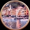 Portofino in tondo - 1995 - cm 70x70