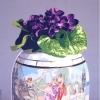 Le violette - 2004 - cm 100x100