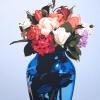 Le rose nel vaso blu - 2004 - cm 100x100