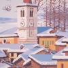 Il campanile e la neve - 2005 - cm 50x70