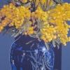La mimosa nel vaso blu - 2011 - cm 100x100