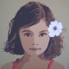 La bimba col fiore - 2014 - cm 100x100