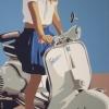 Giorgia e la Vespa - 2018 - cm 60x100