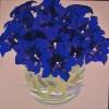 Nel blu delle genziane - 2016 - cm 100x100