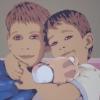 Nikita e Egor - 2009, cm. 100x70