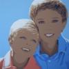 Alvaro e Paolino e i cuoricini - 2014, 100x100 cm